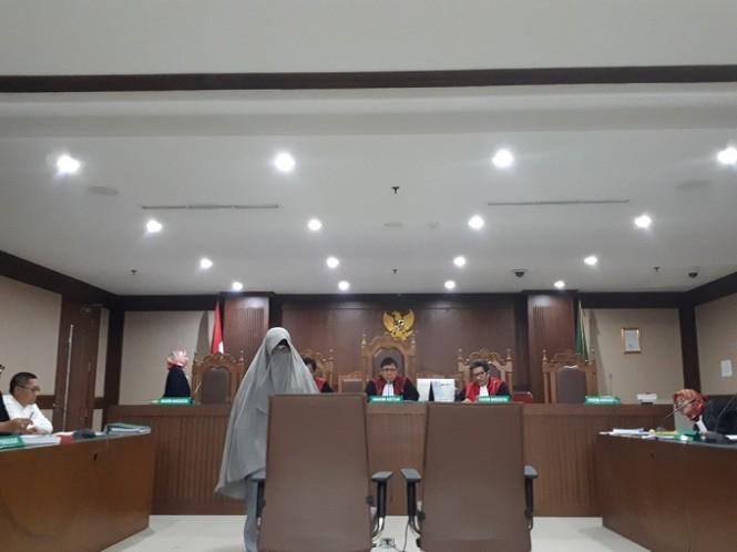 Yulianis bersaksi dalam sidang PK Anas Urbaningrum - Medcom.id/Faisal Abdalla.