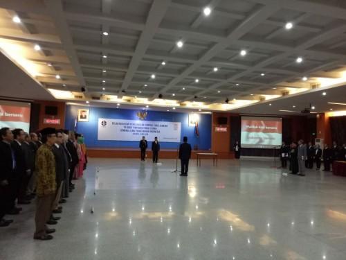 Pelantikan Laksana Tri Handoko sebagai Kepala LIPI.  Foto: Humas