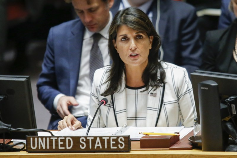 Dubes AS untuk PBB Nikki Haley nyatakan akan veto resolusi DK PBB untuk lindungi Palestina (Foto: AFP).