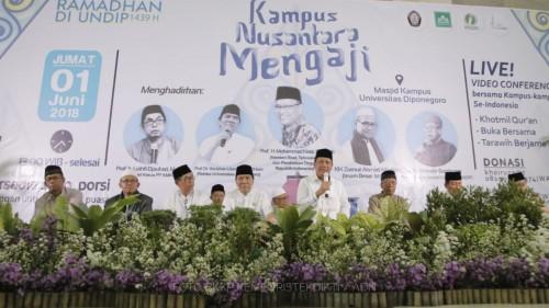Menristekdikti, Mohamad Nasir saat menghadiri Nusantara Mengaji.
