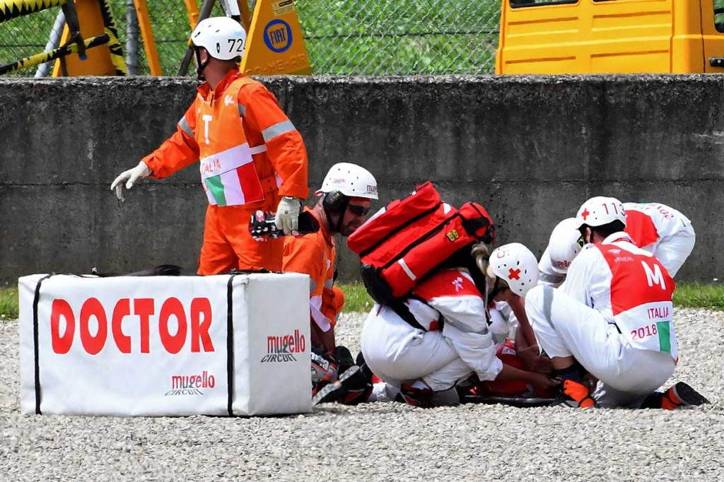 Pembalap Ducati Michele Pirro Alami Kecelakaan Parah