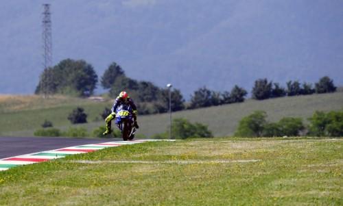 Pembalap Movistar Yamaha Valentino Rossi (Foto: AFP/ TIZIANA
