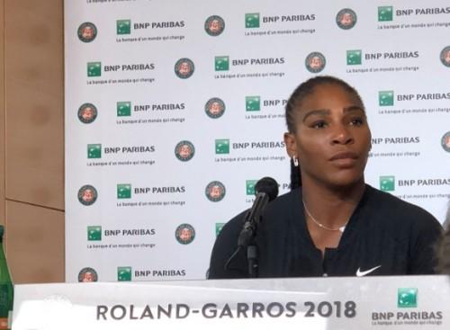 Petenis Amerika Serikat Serena Williams saat menggelar