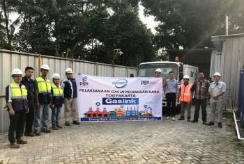 PGN Salurkan Gas CGN Perdana ke Yogyakarta