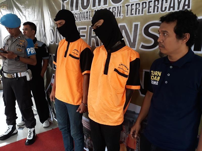 Dua pelaku pemukulan terhadap wartawan ditangkap polisi. Medcom.id/Hendrik Simorangkir