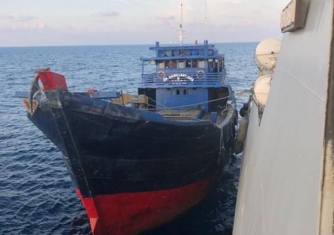 Operasi Benteng Sagara-18 Tangkap Kapal Pencuri Ikan