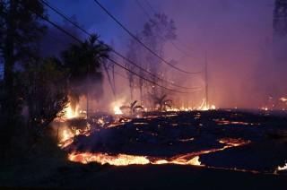 Danau Terbesar Hawaii Kering Akibat Lava