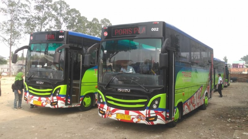 Bus Rapid Transit (BRT) Koridor 2 jurusan Terminal Poris Plawad-Cibodas, Tangerang, telah beroperasi.
