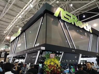 Booth ASRock di Computex 2018 Taipei, Taiwan.