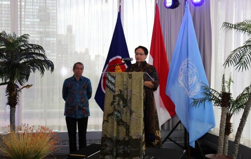 Menteri Luar Negeri RI Retno Marsudi berada di New York untuk mengetahui hasil voting anggota tidak tetap DK PBB (Foto: Dok.Kemenlu RI).