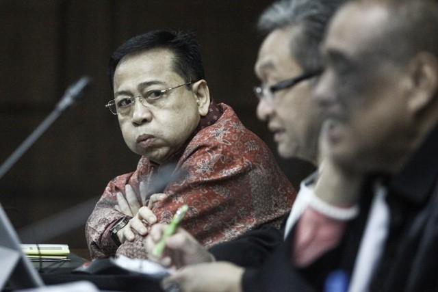 Terpidana kasus korupsi KTP-el Setya Novanto. Foto: Antara/Muhammad Adimadja