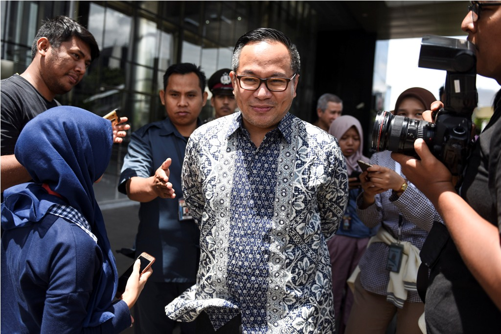Direktur Utama Bank Mandiri Kartika Wirjoatmodjo(ANTARA FOTO/Hafidz Mubarak A)