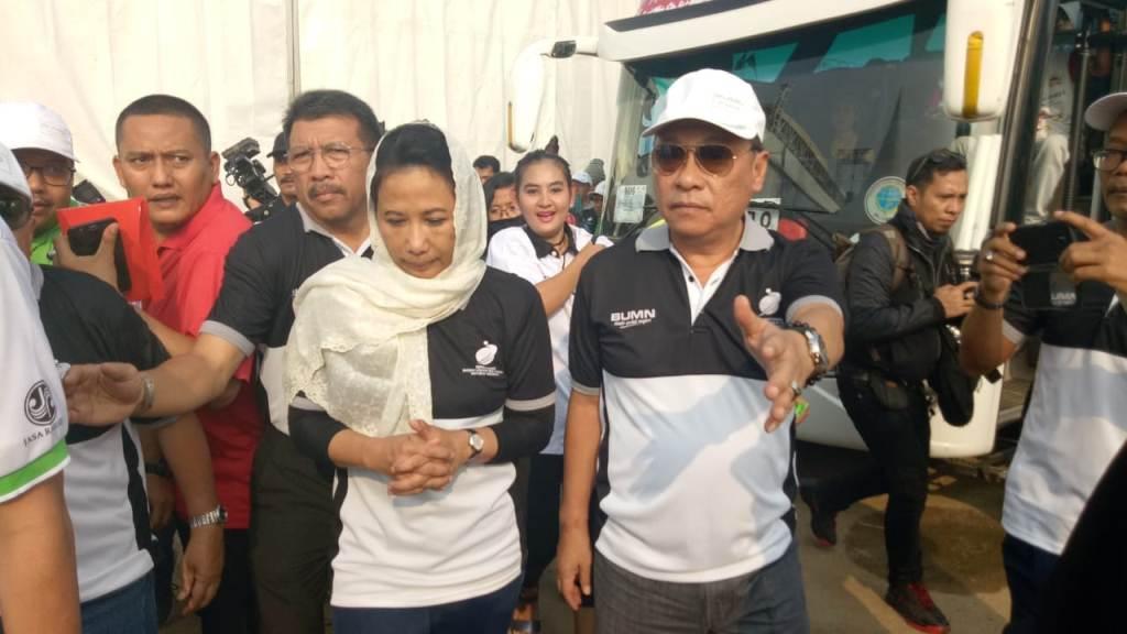 Direktur Utama BTN Maryono (kanan) bersama dengan Menteri BUMN Rini Soemarno (Foto: dokumentasi BTN)