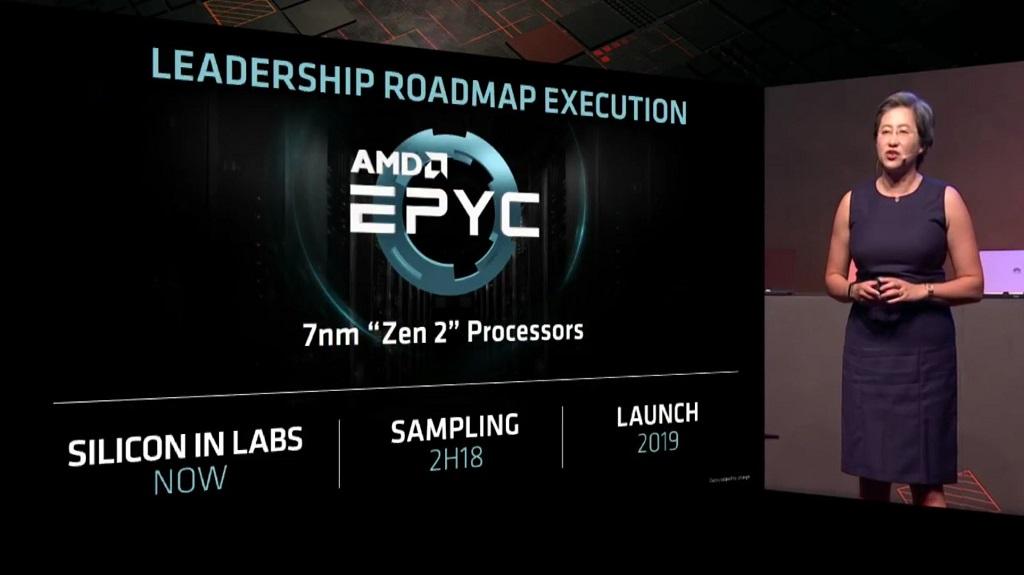 President & CEO AMD Dr.Lisa Su membeberkan informasi tentang prosesor AMD EPYC Generasi ke-2.