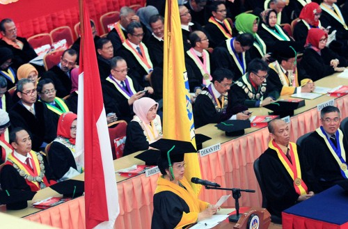 Ketua Dewan Pengarah BPIP, Megawati Soekarnoputri di Universitas