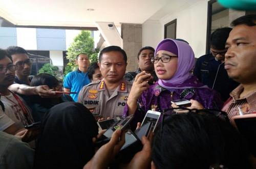 Ketua KPAI Susanto dan Komisioner Bidang Pendidikan KPAI Retno