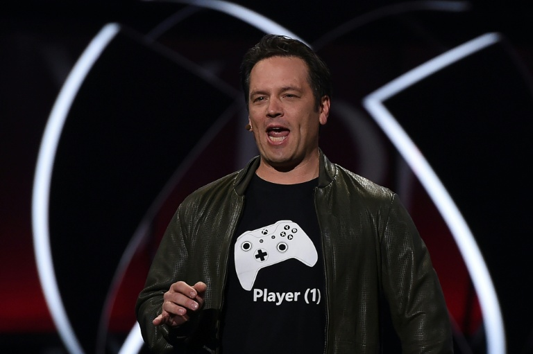Xbox chief Phil Spencer speaks on stage at the Microsoft Xbox E3 Briefing in Los Angeles, California, in June 2017. (Photo:AFP/Robyn Beck)