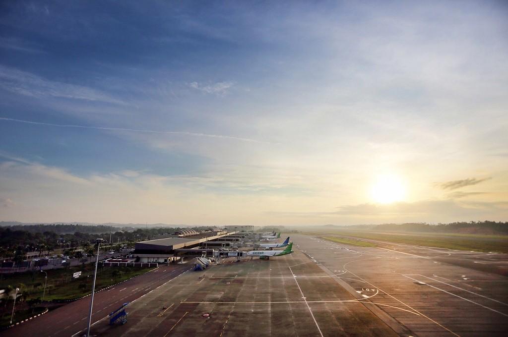 Pesawat di area parkir Bandara Hang Nadim Batam, 4 April 2016, MI - Hendri Kremer