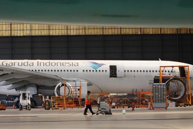 Garuda Indonesia. MI/Angga Yuniar.
