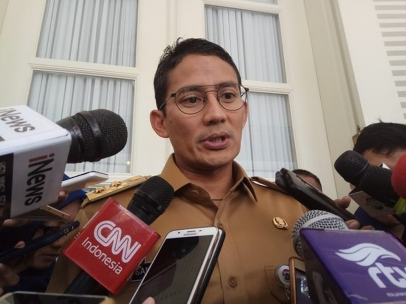 Wakil Gubernur DKI Jakarta Sandiaga Uno. Foto: Medcom.id/Faisal Abdalla.