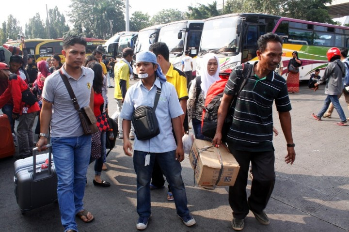 Terminal Kampung Rambutan Siapkan Bus Cadangan