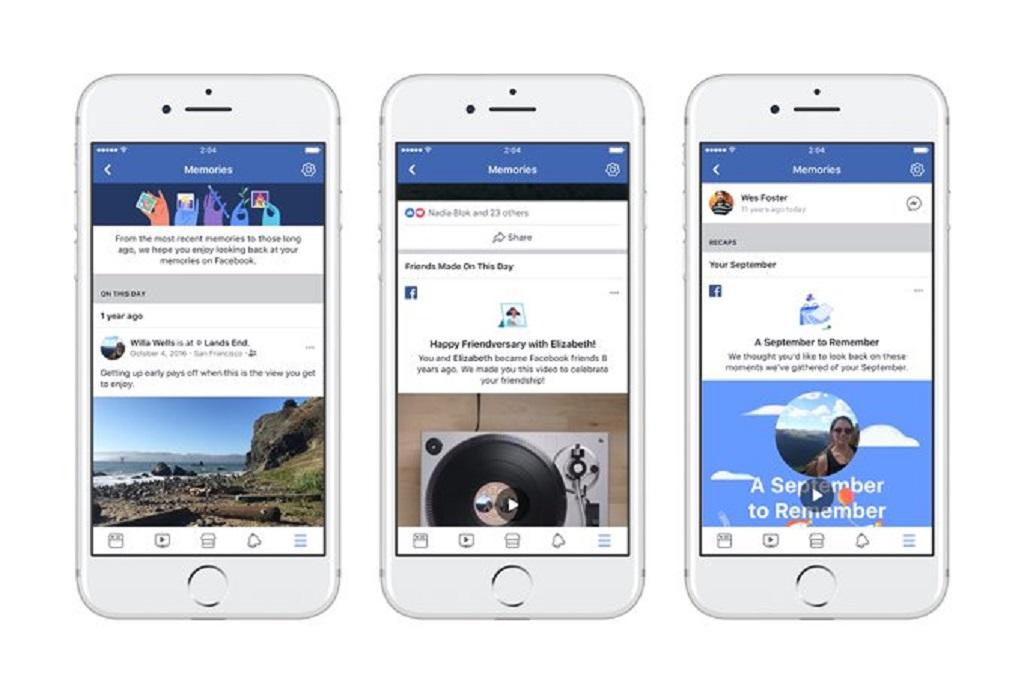 Facebook meluncurkan fitur Memories sebagai wadah untuk menampilkan unggahan yang di masa lampau pada platform.