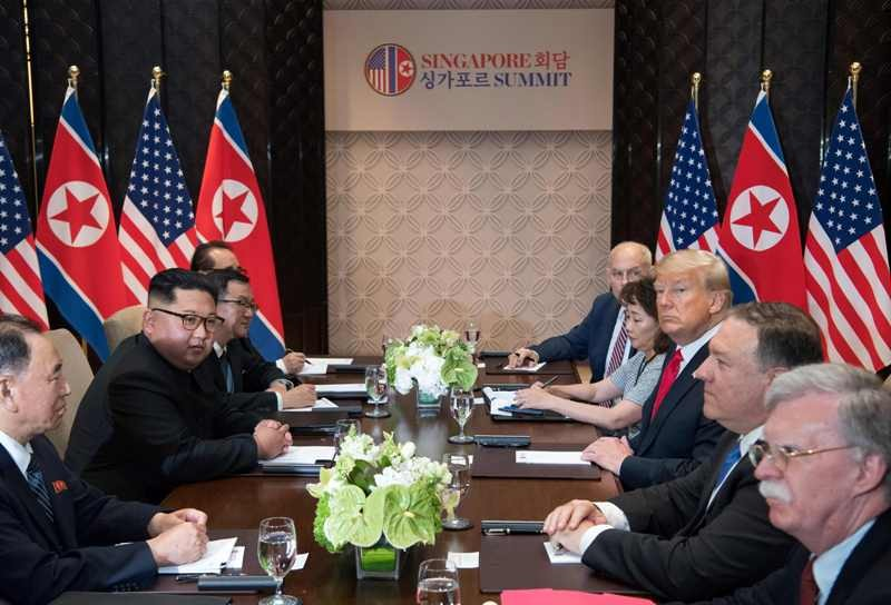 US President Donald Trump predicted he would have a terrific relationship with Kim Jong-un (Photo: AFP).