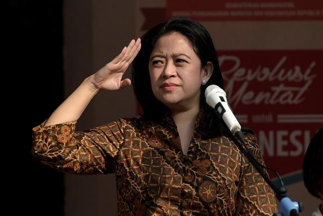 Menteri Koordinator Pembangunan Manusia dan Kebudayaan Puan Maharani--Antara/Sigid Kurniawan