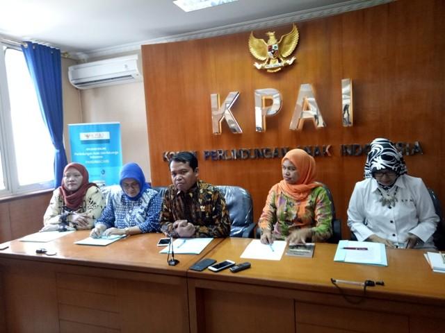 Ilustrasi-- Komisi Perlindungan Anak Indonesia (KPAI) saat konferensi pers di Kantor KPAI di Jalan Teuku Umar, Jakarta Pusat, Selasa 12 Juni 2018--Medcom.id/Intan Yunelia