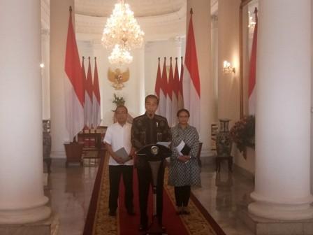 Presiden Jokowi di Istana Bogor/Medcom.id/Fikar