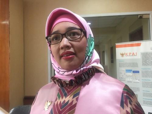 Komisioner bidang Pendidikan KPAI, Retno Listyarti di Kantor