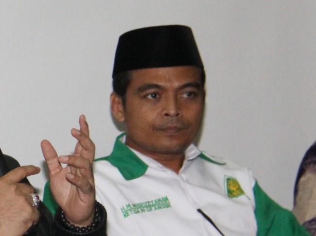 Eks Wasekjen DPP Partai Gerindra Mohammad Nuruzzaman. (Foto: Antara/Reno Esnir)