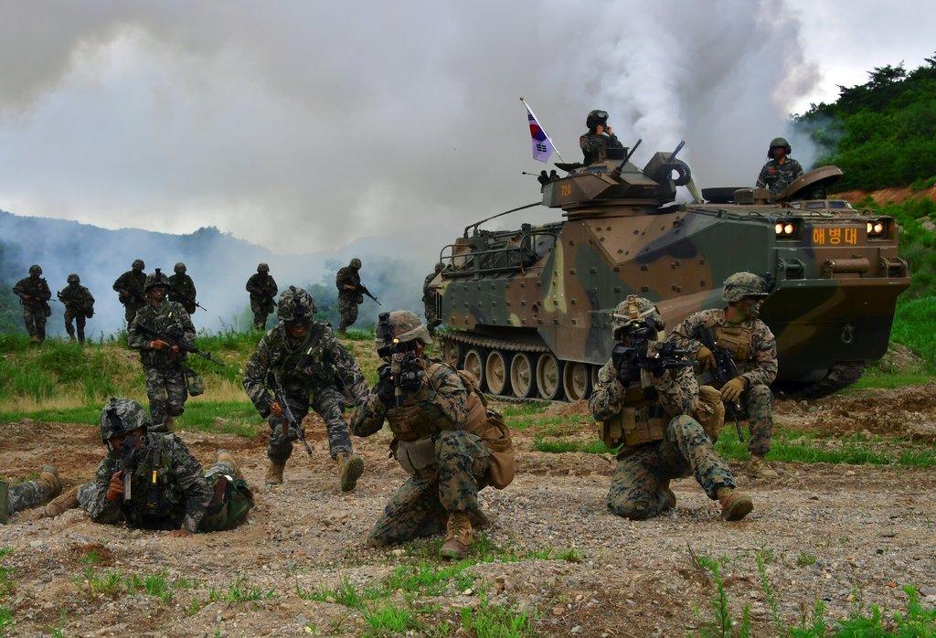 Latihan gabungan AS dan Korsel pada 2016. (Foto: AFP)