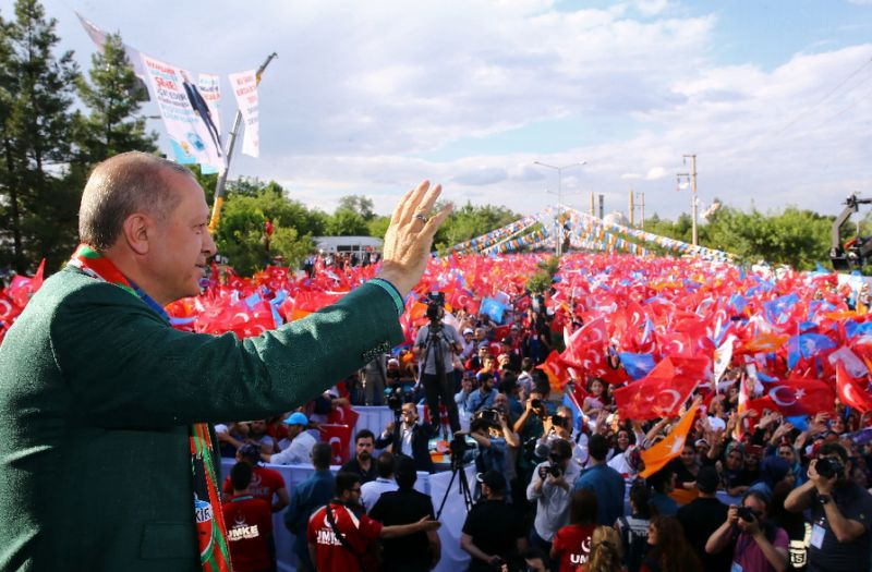 Turkish President Recep Tayyip Erdogan is seeking crucial Kurdish votes in his bid for re-election. (Photo:AFP/Kayhan Ozer)