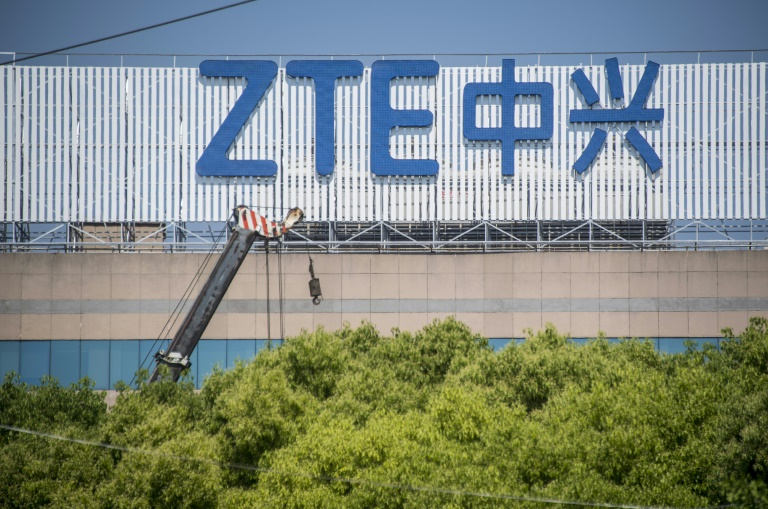 Trading in ZTE's shares was suspended in April. (Photo:AFP/Johannes Eisele)