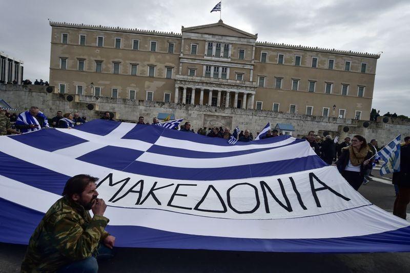 Protes warga Yunani menentang nama Makedonia (Foto: AFP).