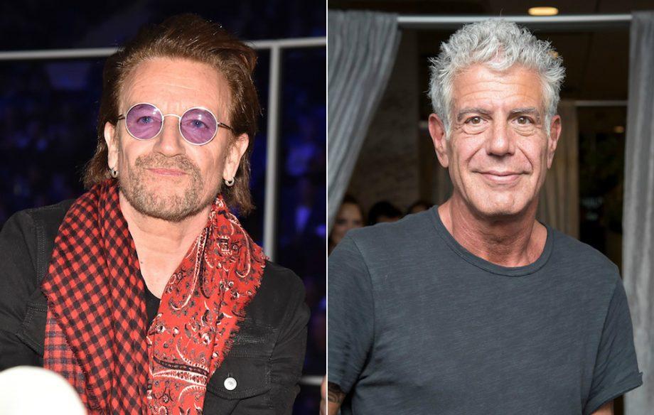 Bono-Anthony Bourdain (Foto: via nme)