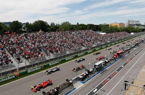 Suasana Formula 1 Grand Prix Kanada (Foto: AFP)