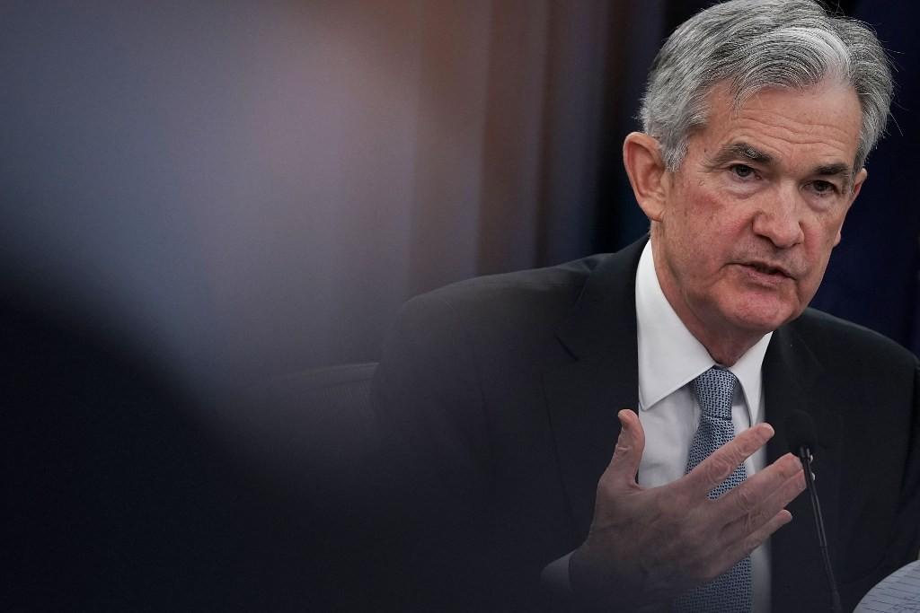 Ketua Federal Reserve AS Jerome Powell (Alex Wong/AFP)