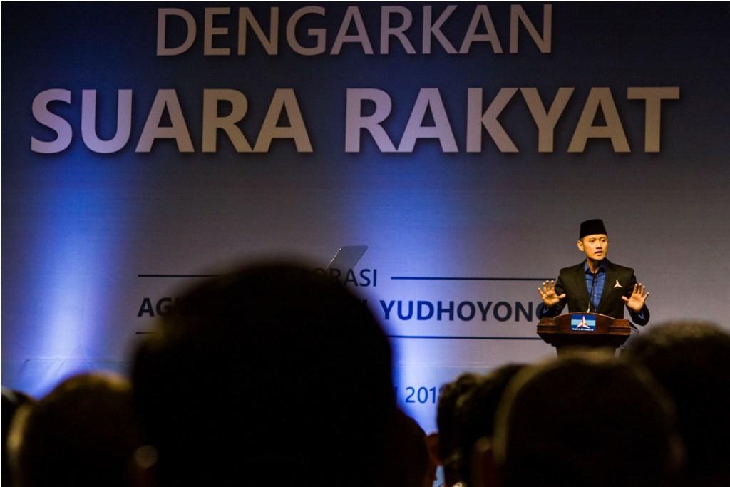 Komandan Kogasma Partai Demokrat Agus Harimurti Yudhoyono. ANTARA FOTO/Galih Pradipta