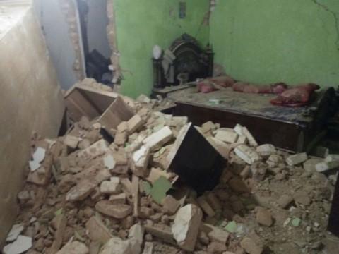 Rumah terdampak gempa di Sumenep. (BNPB)
