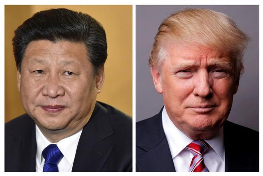 Presiden Amerika Serikat Donald Trump dan Presiden Tiongkok Xi Jinping dalam sebuah foto (FOTO: AFP)
