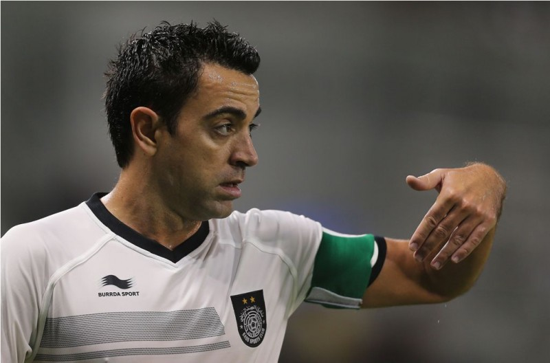 Xavi Hernadez (Foto: AFP/KARIM JAAFAR)