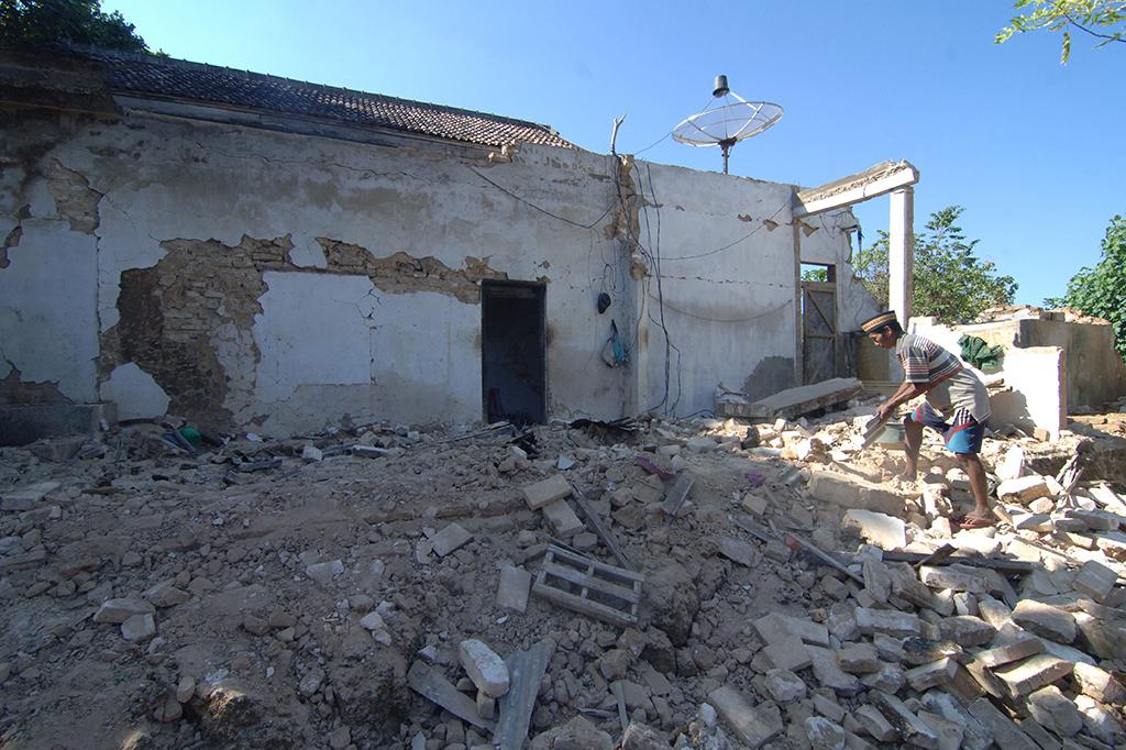 Puluhan Rumah di Sumenep Rusak Akibat Gempa
