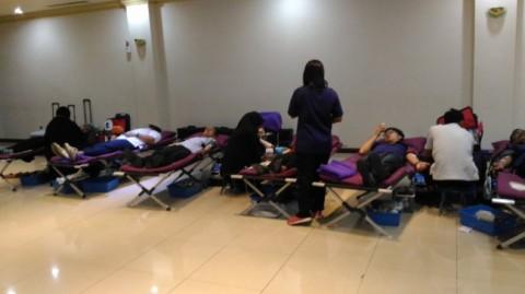 Kegiatan donor darah yang dilakukan Media Group - MTVN/Riyan