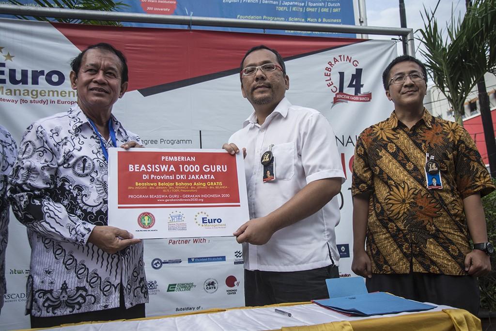 Ketua Umum Pengurus Pusat Ikatan Alumni Beasiswa Habibie (IABIE), Bimo Sasongko, ANT/Aprilio Akbar.