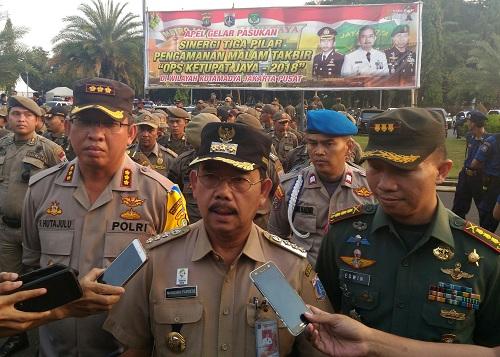 2.500 Personel Gabungan Jaga Malam Takbir di Jakarta Pusat