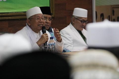 KH Ma'ruf Amin (kiri). Foto: Antara/Moch Asim
