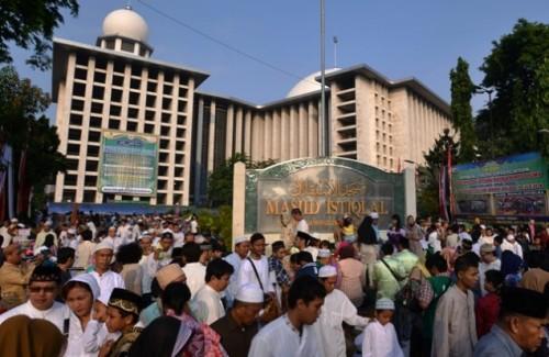 Sejumlah jemaah akan menjalankan salat Id di Masjid Istiqlal,