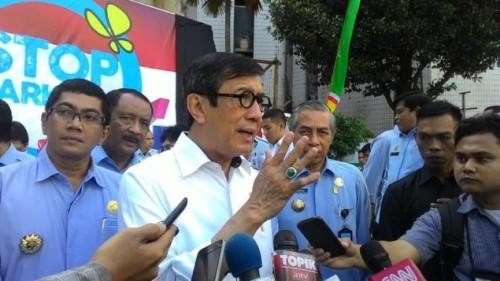Menteri Hukum dan HAM RI Yassona H. Laoly. Medcom.id/ Nur Azizah